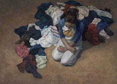 """Candice Bohannon """"Downpour"""" Oil on canvas 48x72"""""""