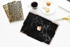 Gold Marble Case #macbook #tablet #apple #imac #coffee #notebook #marble #rosegold #desk