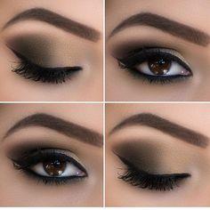 Makeup Eye Looks, Eye Makeup Steps, Beautiful Eye Makeup, Perfect Makeup, Smokey Eye Makeup, Makeup Dupes, Skin Makeup, Eyeshadow Makeup, Makeup Brushes