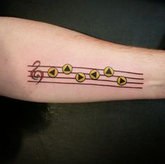 "This delightful piece of music: | 22 ""Legend Of Zelda"" Tattoos That Will Blow You Away"