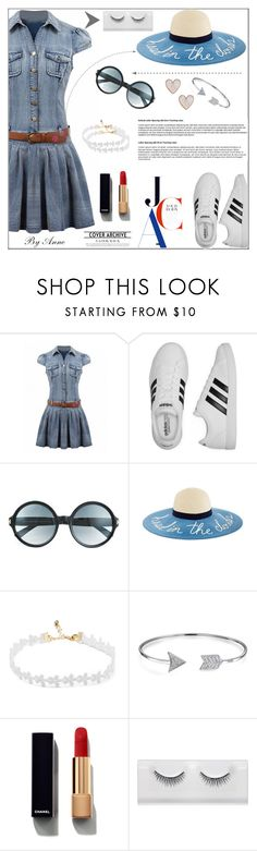 """""""Denim forever"""" by anne-977 ❤ liked on Polyvore featuring adidas, Tom Ford, Bling Jewelry, Chanel and New Look"""