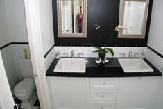 The Combination Of Black And White Bathroom Ideas: Black And White Bathroom Tile Ideas