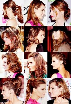 Stana Katic - Hairstyles A-Plenty
