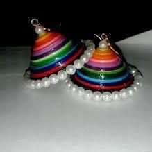 paper quilled jhumkas~sowmi