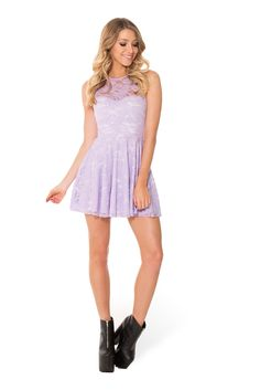 Lilac Lace Skater Dress - LIMITED (WW $90AUD / US $85USD) by Black Milk Clothing