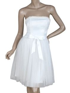 Ever Pretty Strapless Stunning Beads Padded Bow Short Wedding Dresses 03194: http://www.amazon.com/Pretty-Strapless-Stunning-Wedding-Dresses/dp/B006WIFI9C/?tag=wwwcert4uinfo-20