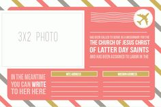 SUCH cute (and free!!) missionary address cards to download. (: