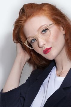 Aura | Frosted Vanilla | Women Acetate Eyeglasses | EyeBuyDirect