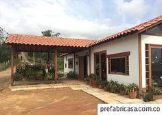 Galeria 2 - casas prefabricadas | prefabricasa.com.co Old House Design, Home Porch, Spanish House, Beautiful Space, Home Fashion, Tiny House, Patio, Architecture, House Styles