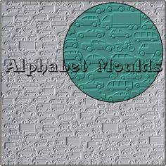 Cars Impression Mat by Alphabet Moulds UK