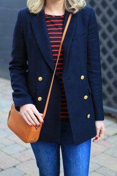 My Brooks Brothers Story - Lemon Stripes Lauren Hutton, Oversized Blazer, Autumn Winter Fashion, Winter Style, Office Fashion, Preppy, Boho Fashion, My Style, Boho Style
