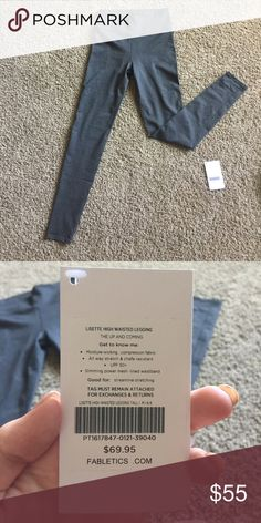 Never been worn Lisette High Waisted Legging! Moisture wicking, compression fabric, stretch and chafe resistant, lined waist band! Perfect for the gym or athleisure when out on the town! Fabletics Pants Skinny