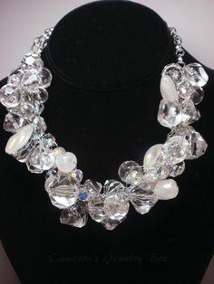 Chunky Wedding Necklace Statement Jewelry by CameronsJewelryBox, $45.00