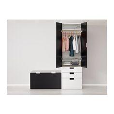 STUVA Opbergcombinatie met bank - wit/zwart - IKEA