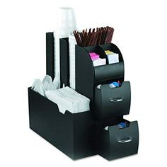 Mind Reader Coffee Station Organizer with Non-Slip Bottom Rubber Grippers and Striking Chrome Handles Perfect for Office or Home use Coffee Pod Storage, Condiment Caddy, Storage Caddy, Keurig Storage, Tea Storage, Storage Containers, Food Storage, Coffee Accessories, Tabletop Accessories