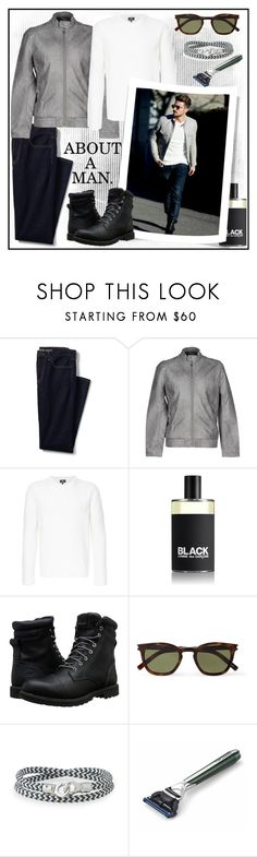 """ABOUT A MAN!!!"" by kskafida ❤ liked on Polyvore featuring Lands' End, Only & Sons, Kent & Curwen, Comme des Garçons, Timberland, Yves Saint Laurent, Brace Humanity, The Art of Shaving, men's fashion and menswear"