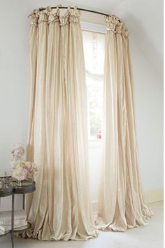 use a curved shower curtain rod?!? Balloon Drapery Panel - Window Coverings, Home Decor | Soft Surroundings