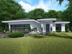 Contemporary Ranch House Plan Makes a Nice Starter Home Family House Plans, Best House Plans, Small House Plans, Duplex House Plans, Ranch House Plans, Small Contemporary House Plans, Bungalow House Design, Unique Architecture