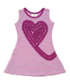 Look what I found on #zulily! Purple Heart Swirl Organic Dress - Infant, Toddler & Girls #zulilyfinds