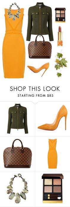 """""""Fall Date Night"""" by timelesstyle13 ❤ liked on Polyvore featuring Dsquared2, Christian Louboutin, Louis Vuitton, Altuzarra, Viktoria Hayman, Tom Ford and Tory Burch"""