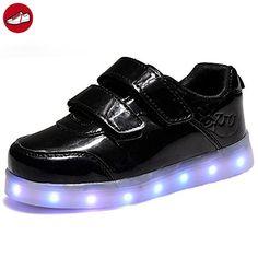 (Present:kleines Handtuch)Goldene EU 38, Leucht laufende LED Herbst Herren und Erwachsene USB Unisex Schuhe Damen mode Leuchtend Farbe Sport schuhe JUNGLEST® Paare 7