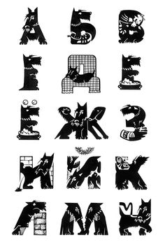 The life of a Scottish Terrier (handmade font) on Behance