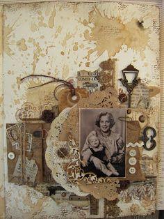min lille scrappe-verden: Vintage bokside