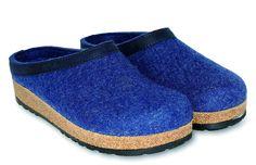 eff31402bc7 Haflinger Grizzly Torben 713001 Mens Clog Slipper - Jeans - 43