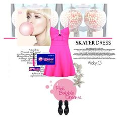 Designer Clothes, Shoes & Bags for Women Bubble, Cut Out Skater Dress, Pink, Cyndi Lauper, Polyvore, Summer, Dresses, Design, Bags
