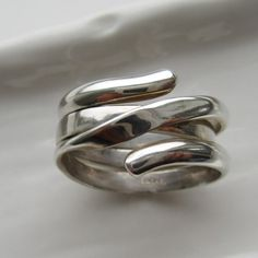 Sterling Silver Two Rings in One Sterling Silver Band