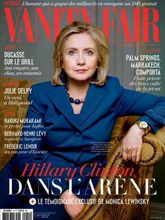 vanity fair covers 2014 | Hillary Clinton - Vanity Fair Magazine, France, August 2014