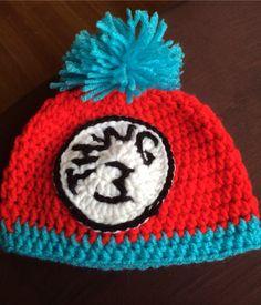Thing 3 newborn hat