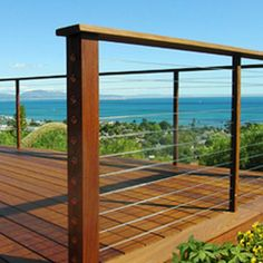 Deck railing isn't just a security feature. It can add a sensational visual to frame a decked location or deck. These 36 deck railing ideas reveal you how it's done! Deck Railing Design, Deck Railings, Deck Design, Railing Ideas, Deck Railing Kits, Rope Railing, Landscape Design, Cable Railing, Cable Fencing