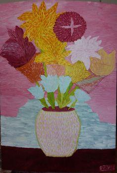 Martwa natura 2 to obraz zainspirowany stylem awangardowym. Pastelowe barwy nadają obrazowi ciekawej atmosfery. Obraz malowany różnymi technikami.  Obraz do kupienia na: https://www.artmakers.pl/artwork/mateusz-zeniuk/martwa-natura-2