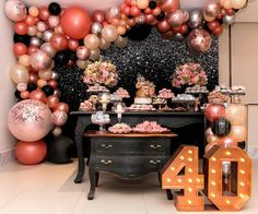 Tips and Trick on Birthday Party Ideas 40th Birthday Decorations, 40th Birthday Parties, Birthday Balloons, Birthday Celebration, Elegant Birthday Party, Balloon Garland, Diy Home Crafts, Event Decor, Party Planning