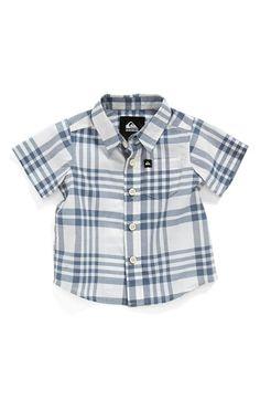 Quiksilver 'Pat Pack' Plaid Woven Cotton Shirt (Baby Boys)