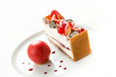 Cheesecake aux fruits rouges. © Thierry Caron