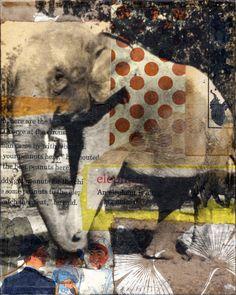 Elephant4 by Michelle Caplan, collage artist. www.michellecaplan.com