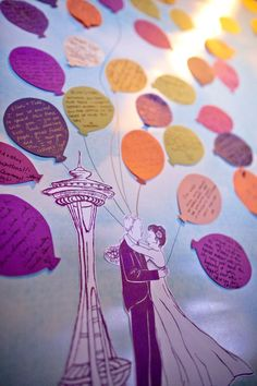 Guestbook with balloon messages posted by Patricia Stimac, Seattle Wedding Officiant