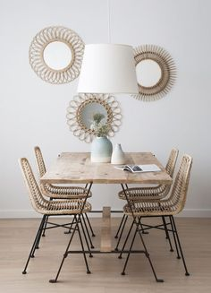 Simply Gorgeous Scandinavian Dining Room Ideas to Steal - Esszimmer Ideen Dining Room Walls, Dining Room Lighting, Dining Room Design, Dining Room Modern, Best Dining, Small Dining, Cheap Home Decor, Chair Design, Furniture Design