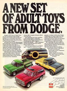1978 Dodge Adult Super Vision Toys: Don't Leave Home With Out It!!!