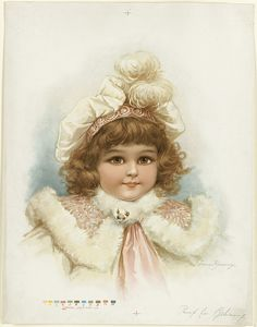 Brundage Little Girl with Fur Collar