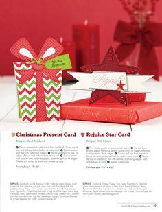 Paper Crafts - November/December 2013 - Page 29- Christmas Present Card by Mendi Yoshikawa