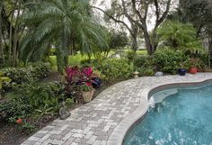 Crystal Pool with Lush Landscaping