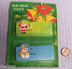 1970's Christmas tags. Oh these bring so many memories back.