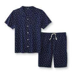 Joe Boxer Sleepwear //Loungewear Capri Gray//Green Cotton Blend