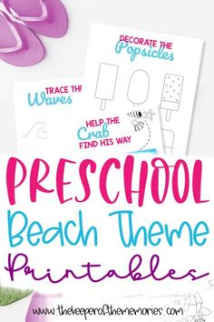 These free preschool beach theme printables are the perfect way to explore the beach while practicing important early learning skills at home. Download yours today!#beach #preschool #printables #preschoolactivities #preschoolworksheets Sensory Activities Toddlers, Preschool Learning Activities, Preschool Curriculum, Free Preschool, Preschool Themes, Preschool Printables, Preschool Worksheets, Printable Worksheets, Free Printable
