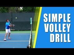 ▶ TENNIS TIPS VOLLEY | Simple Tennis Volley Drill - YouTube