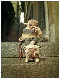 "Strange plush animals designed by Luiza Kwiatkowska and Matthew Chmura for their project "" Creature Industry"