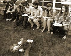 stars, they're just like us.. Eric Clapton, Joni Mitchell, David Crosby and Mama Cass
